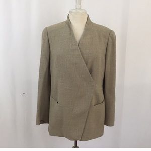 Vintage (Giorgio Armani) Brown Tweed Blazer